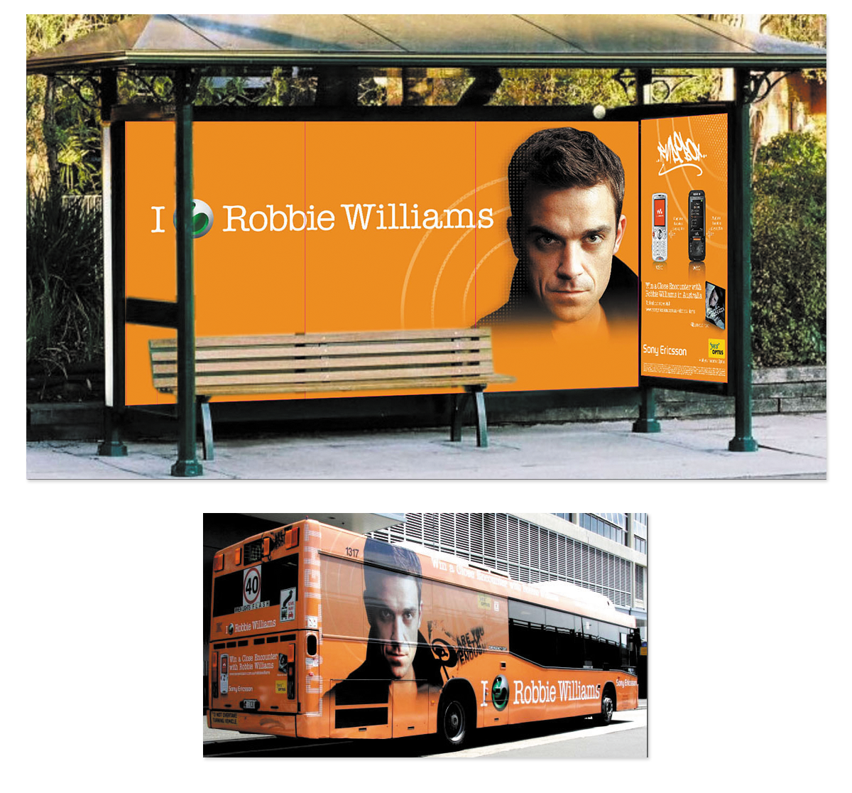 Sony Ericsson Robbie Williams Outdoor Campaign
