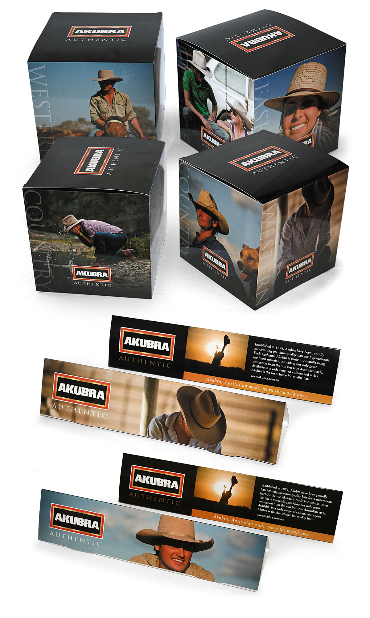 Akubra Display Boxes and Tent Cards